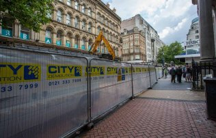 Demolition of the Information Centre in New Street near the Corp