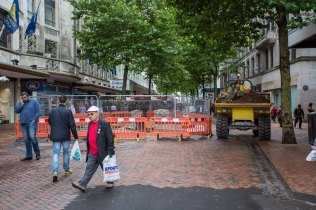 The first of two trenching sites in New Street between Corporaio