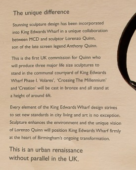 Enlarged text on Sales Brochure - Inside Cover