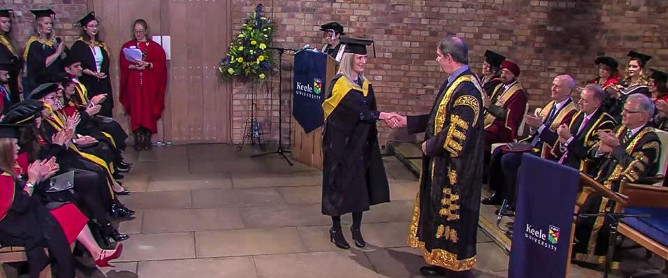 Screen Shot of Graduation Live Feed