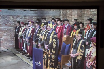 Photo shot of Graduation Live Feed on Screen