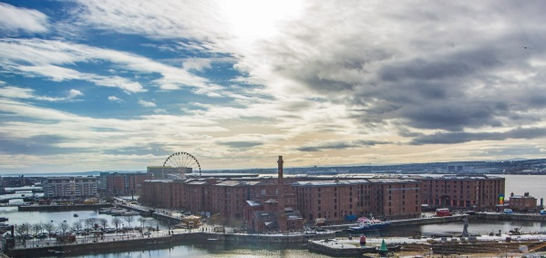 Evening view over the Albert Dock