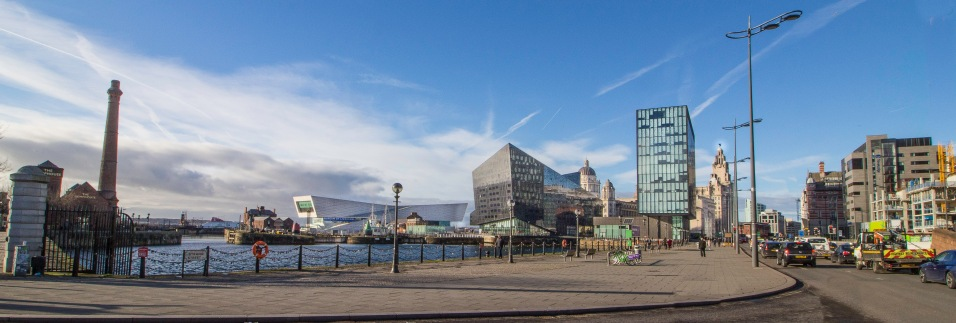 A Start: View from Albert Dock northwards towards the Liver Buildng,,,,
